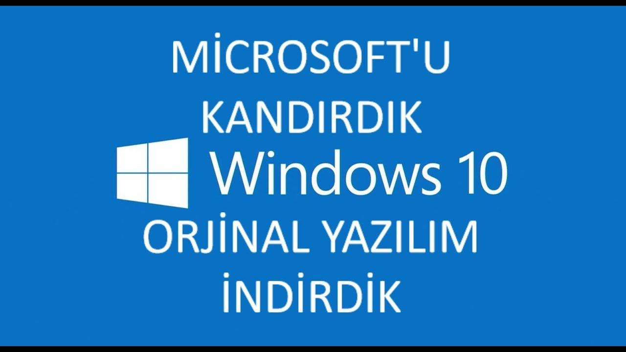 windows 10 orjinal iso olarak nasil indirilir