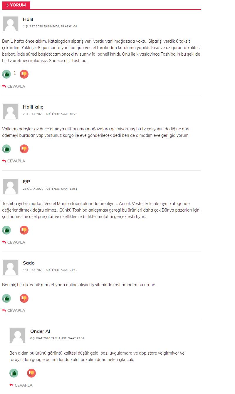 toshiba yorumlar