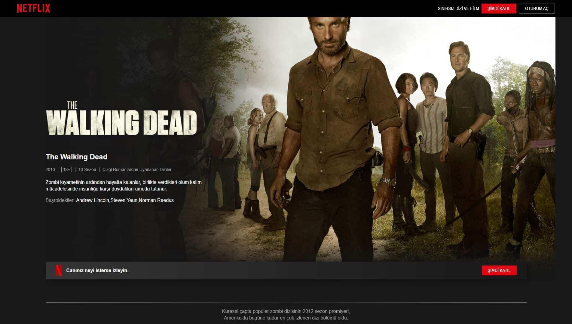 The Walking Dead Nereden izlenir