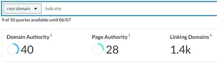 halk site moz DA PA değeri